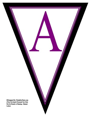 8x10 Inch Large Triangle Pennant Banner Letters A-Z | Printable ...