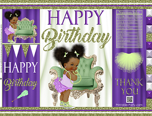 Printable Birthday Chip Bag Templates For Instant Download