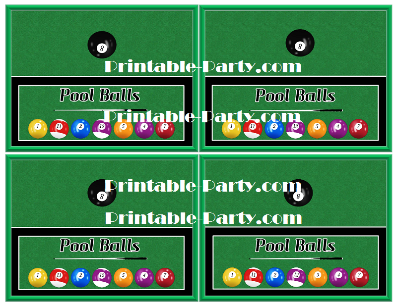 Billiards Party Decorations