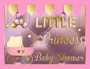 Printable Royal Princess Baby Shower Supplies Pink Amp Gold