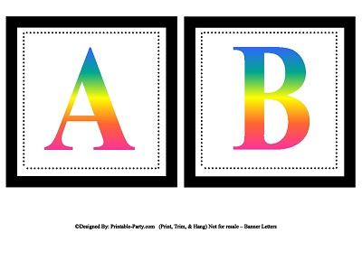 small square printable alphabet letters printable banner