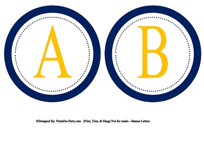 5 Inch Small Circle Printable Alphabet Letters A Z