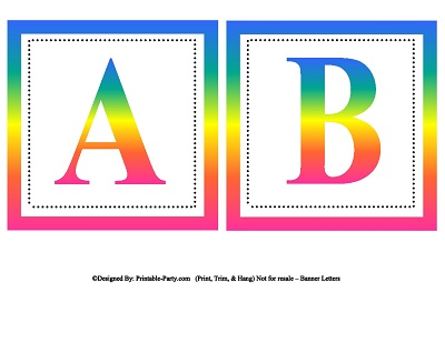 Small Square Printable Alphabet Letters | Printable Banner ...
