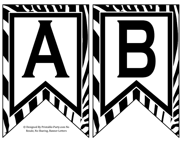 Free Printable Banner Letters Pdf