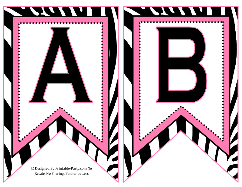 Small Swallowtail Printable Banner Letters A-Z | Numbers 0 ...