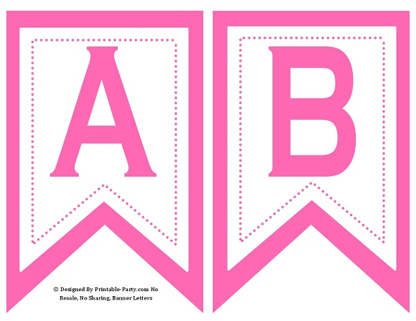 Small Swallowtail Printable Banner Letters A-Z | Numbers 0