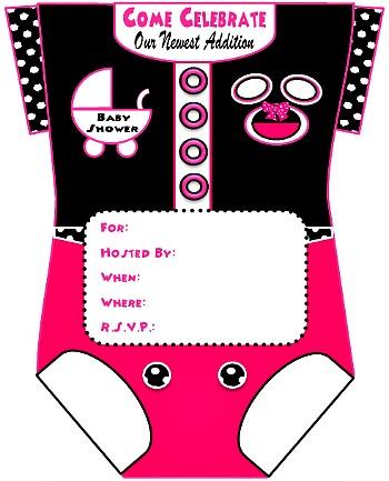 Girls onesie baby shower invitations for girls filmwisefo