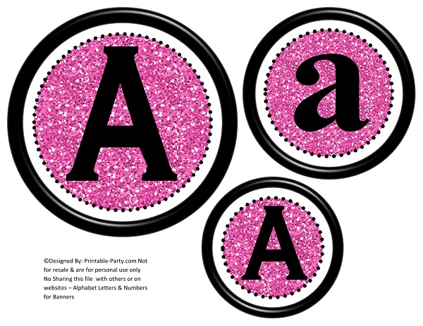 view 3d circle printable banner letters
