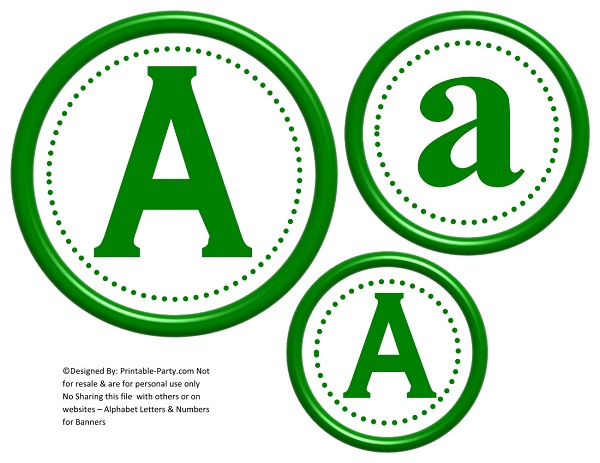 photograph regarding Large Printable Numbers 0-9 called 3D Circle Printable Banner Letters A-Z 0-9 Deliver A