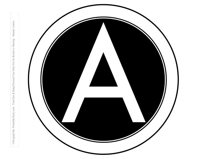 view circle printable alphabet letter colors