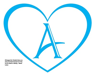 large printable heart shaped alphabet letters a z heart letters