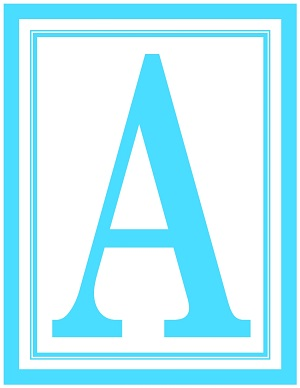 8.5x11 Inch Large Rectangle Printable Alphabet Letters A-Z ...