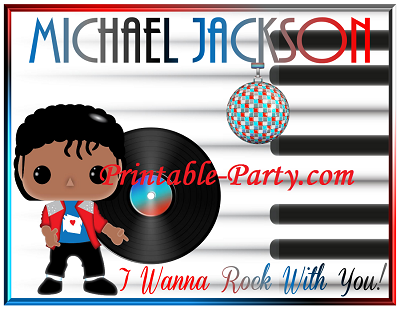 Inspired By Michael Jackson Birthday Party Decorations Rock With You Themed Printables