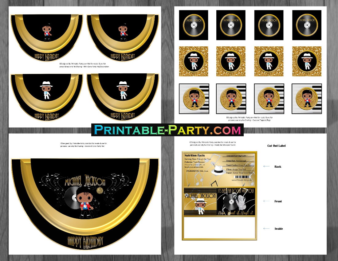 Michael Jackson Birthday Printables | Themed Party Decorations