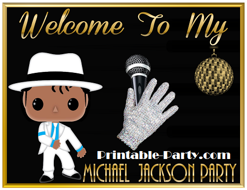 Michael Jackson Birthday Printables Themed Party Decorations