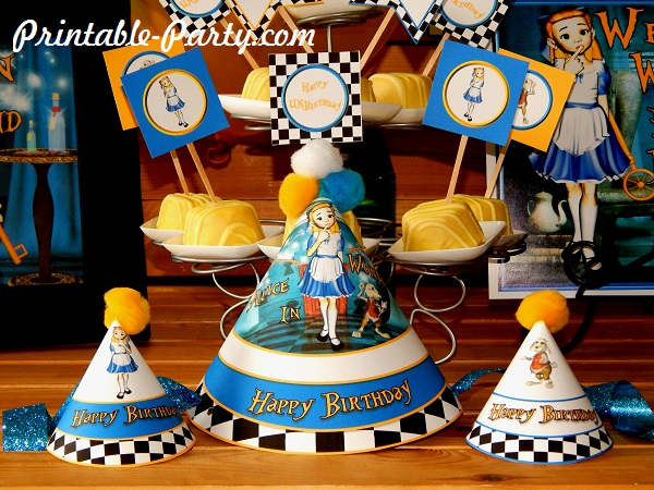 Alice In Wonderland Party Supplies Diy Printable