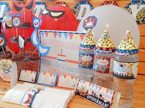 boys printable birthday party supplies
