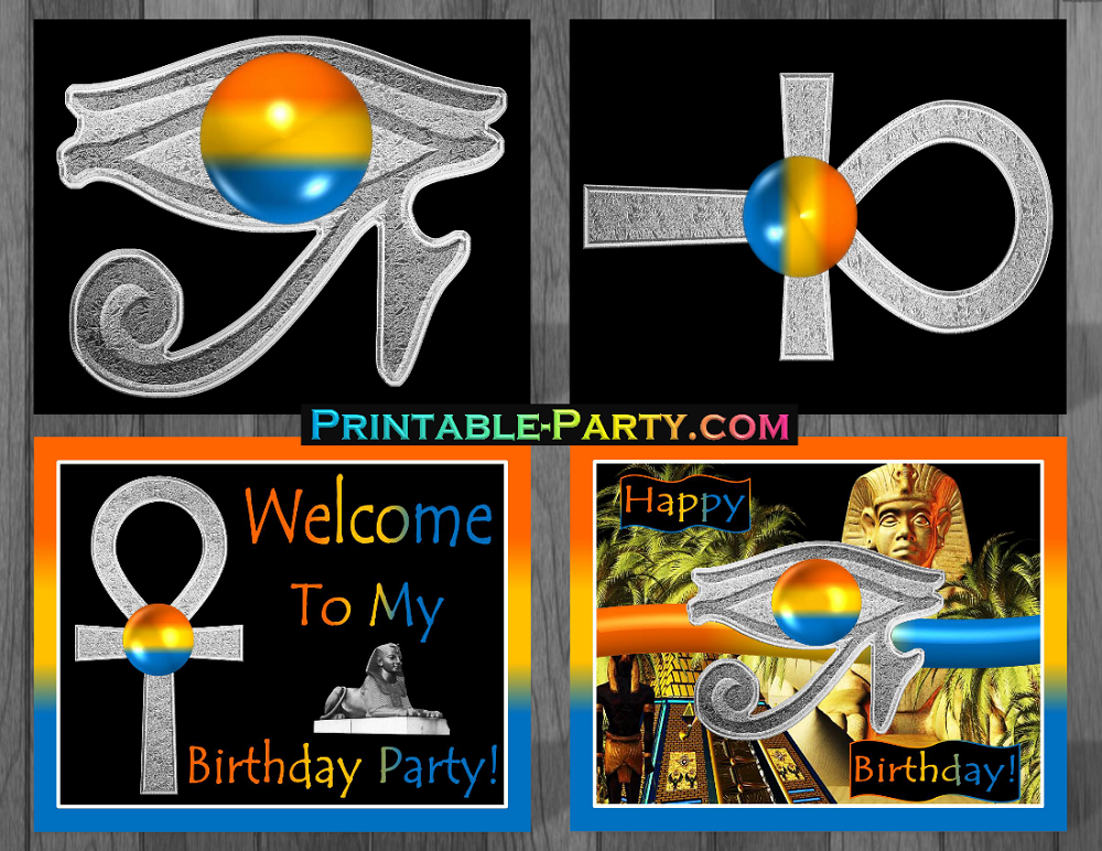Printable Ancient Egyptian Birthday Party Supplies Egyptian Themed