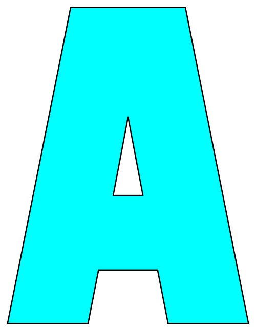letter a cut outs printable cut out letters 18258