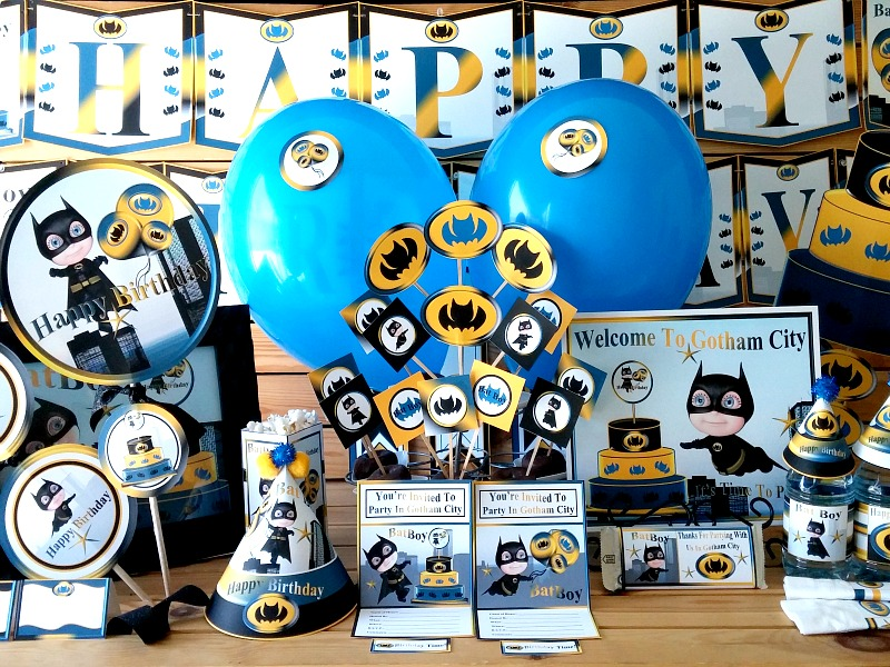 Batman Printable Party Supplies| Batboy Birthday Decorations