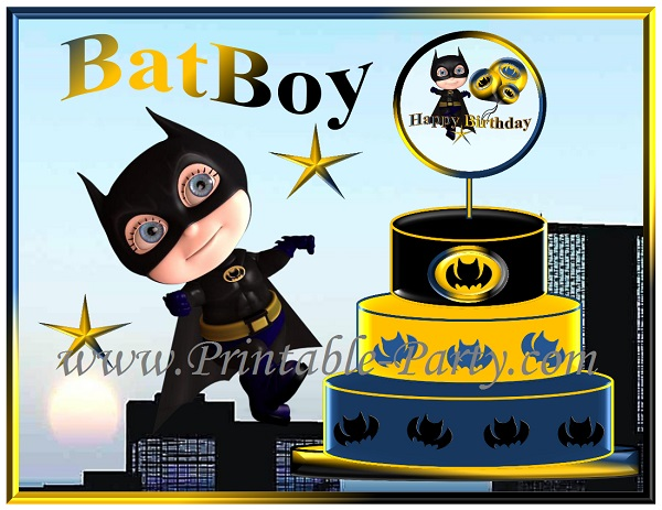 Batman Printable Party Supplies Batboy Birthday Decorations