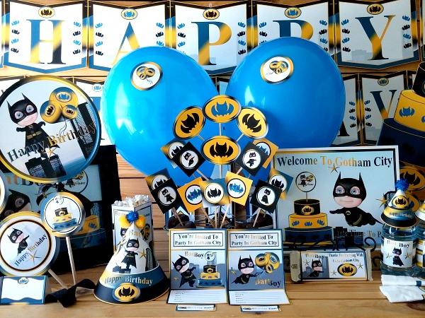 back gallery for batman baby shower decorations