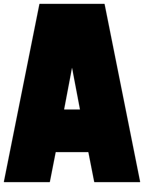 graphic regarding Full Page Printable Letters identified as Printable Alphabet Letters A-Z Printable Banner Letters