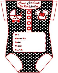 S Onesie Baby Shower Invitations