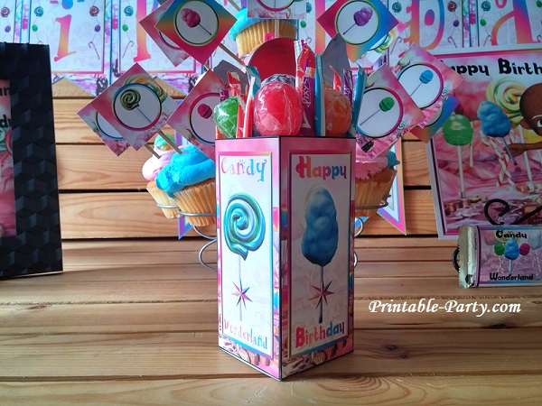 printable candyland party supplies