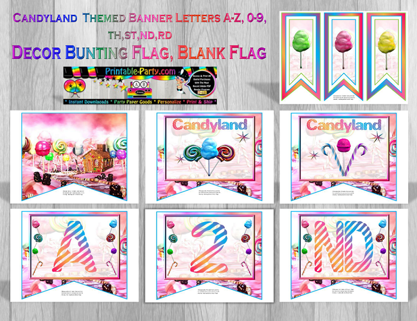 Printable Theme Party Banners | Themed Custom Banner