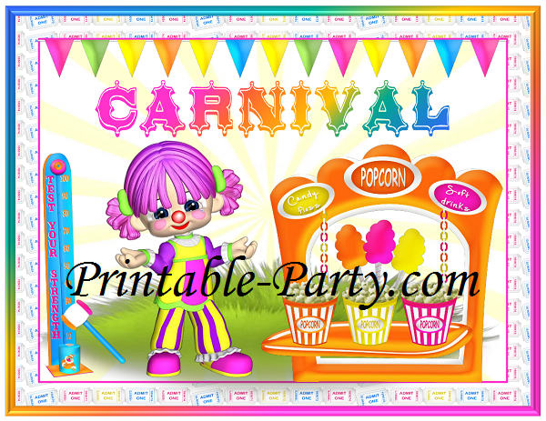 photograph relating to Printable Party Decorations referred to as Carnival Social gathering Materials Carnival Concept Social gathering Decorations
