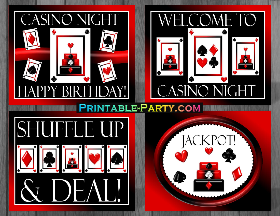 printable casino night party supplies casino birthday table decor for 50th birthday party decorations for 50th birthday party table
