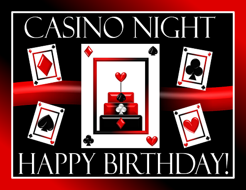 Printable Casino Night Party Supplies Casino Birthday