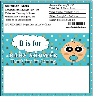Printable Boy Candy Bar Wrapper Favors For Baby Shower