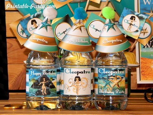 Nice Cleopatra Printable Bottle Wrappers