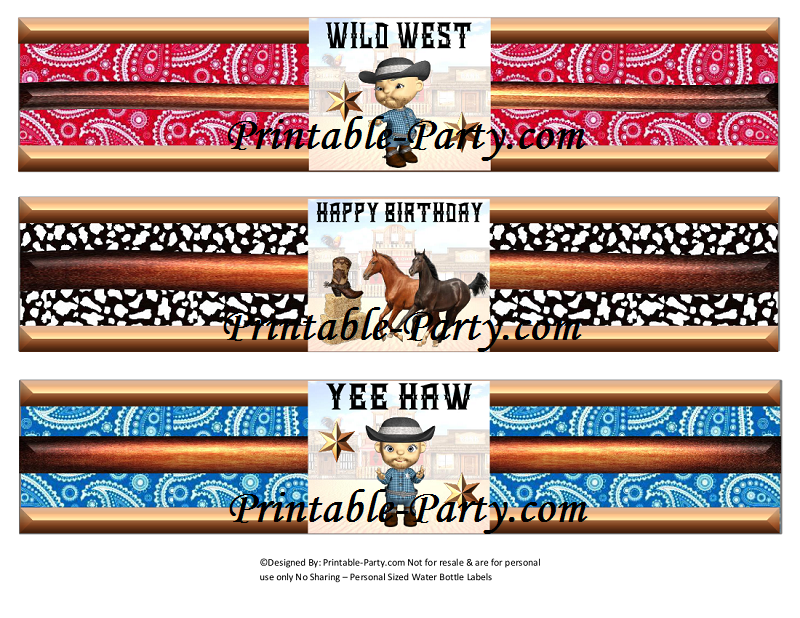 Cowboy Party Invites Free Printables