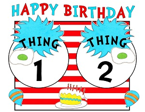 graphic relating to Printable Dr Seuss Hat called Encouraged Through Seuss Printables Birthday Social gathering Components Cat