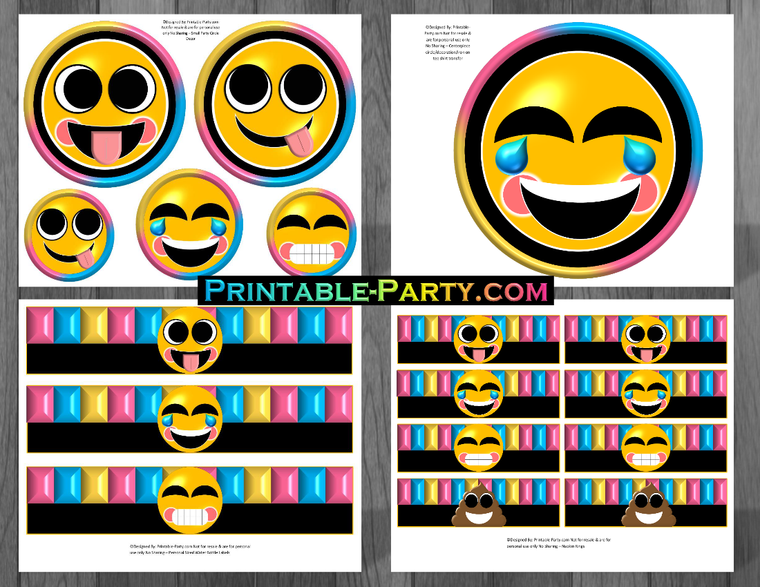 Printable Emoji Themed Decorations
