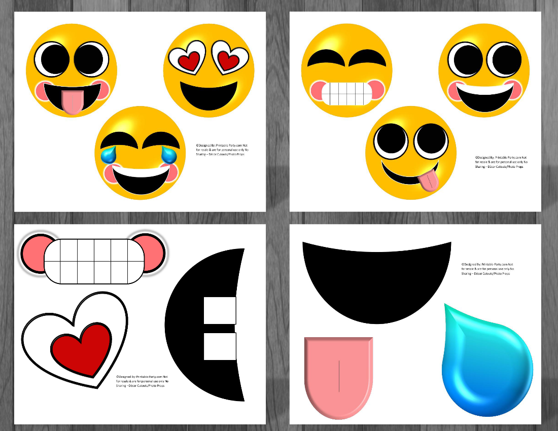 Emoji Printable Birthday Supplies