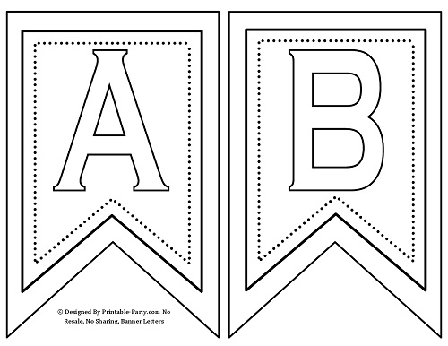 Printable Birthday Banner Black And White Free party printables free ...