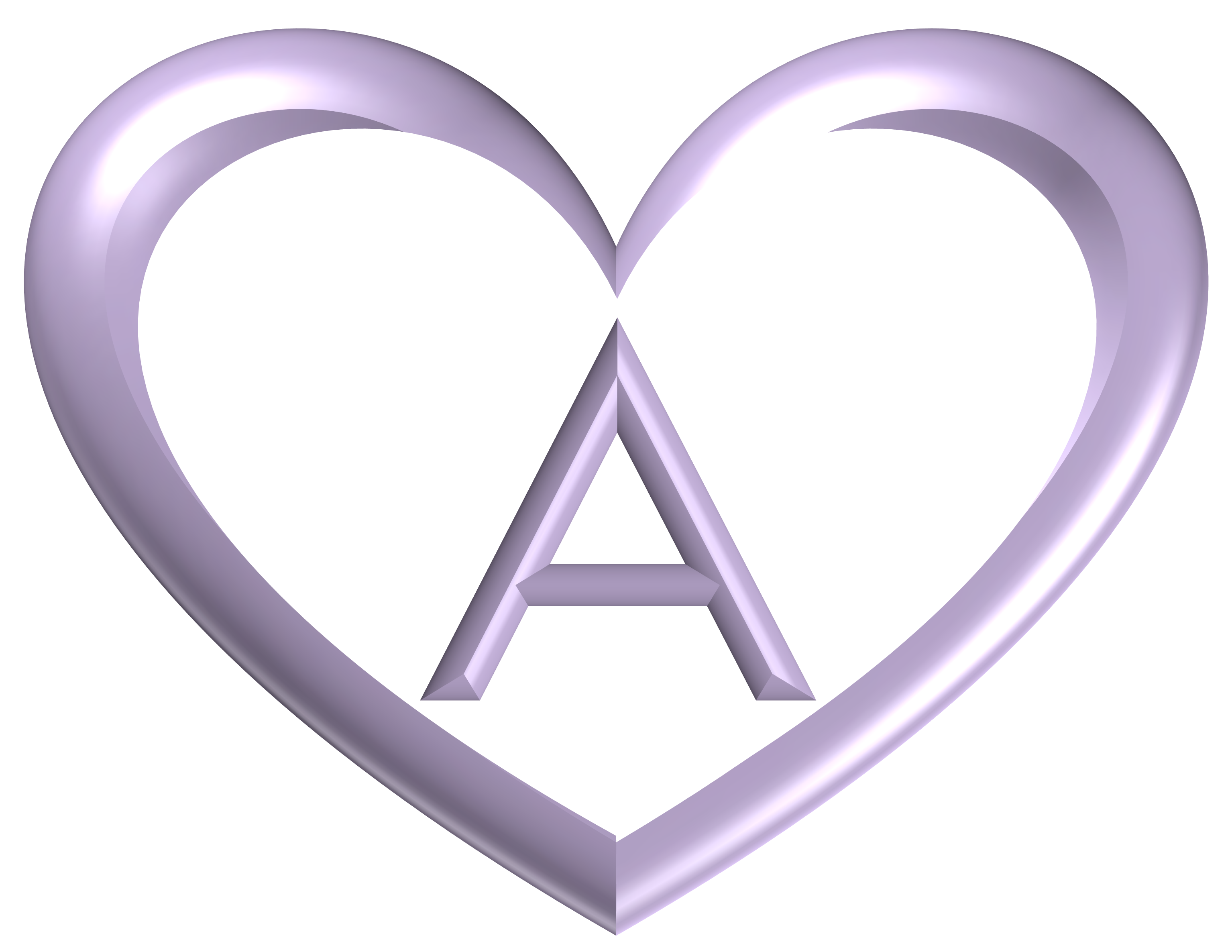 Heart printable alphabet letters heart shaped banner letter lilac buycottarizona
