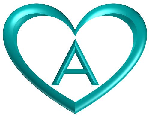 Heart Printable Alphabet Letters Heart Shaped Banner