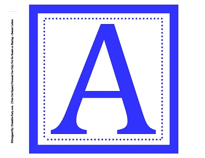 select an 8 inch square alphabet letter color
