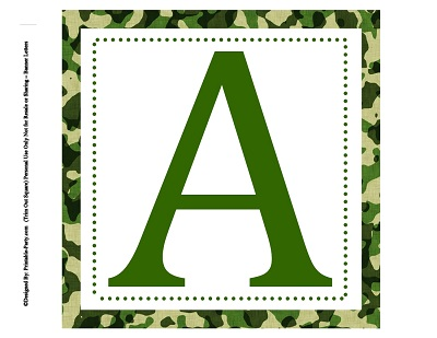 8x8 Inch Large Square Printable Alphabet Letters ...