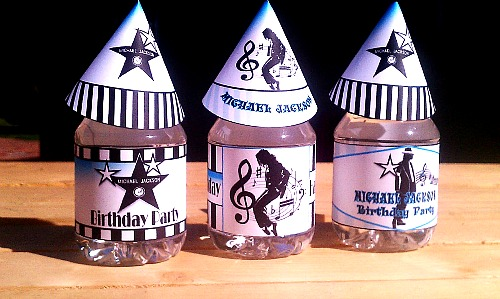 Printable Michael Jackson Party Supplies M J Birthday