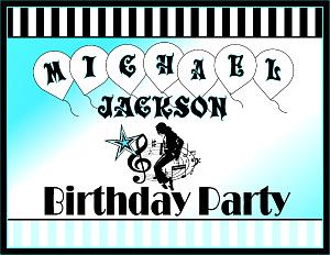 Michael Jackson Printable Party Supplies