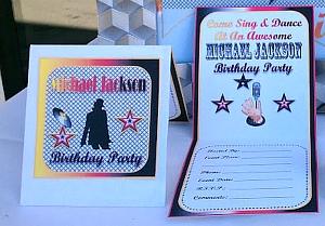 Michael Jackson Centerfold Invitations