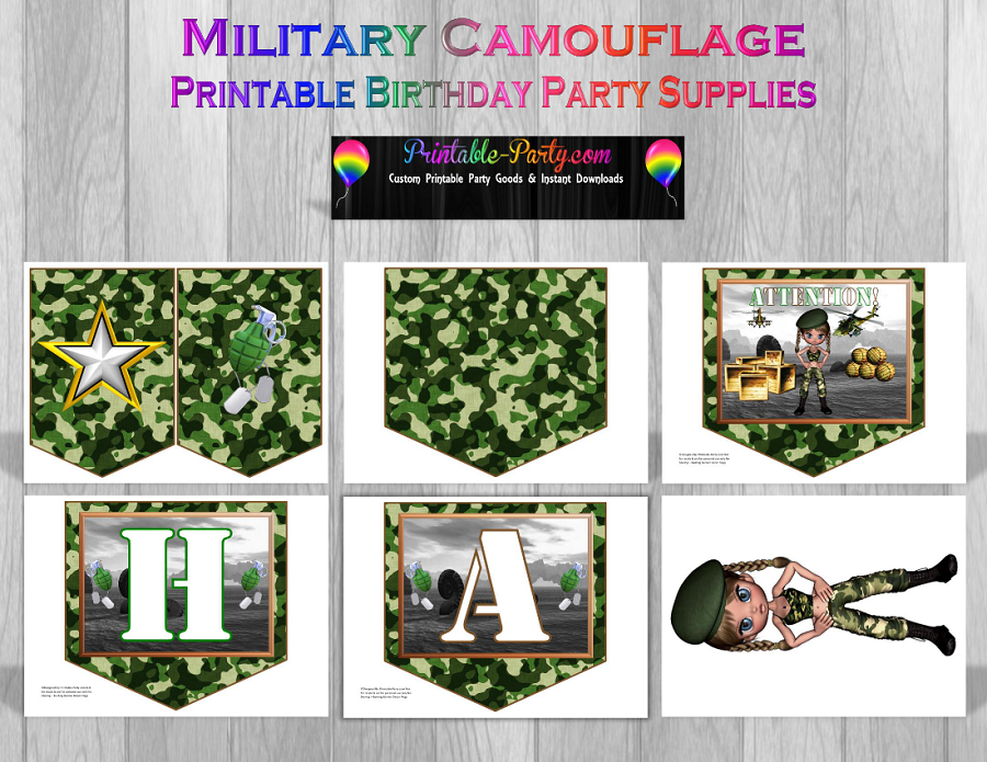 Military Printable Party Supply