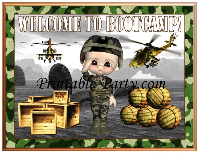 Cake Decorations Military Theme