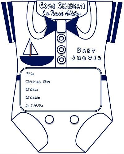 Sailor Baby Shower Invitations is beautiful invitation sample